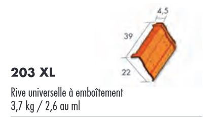 RIVE UNIVERSELLE A EMBOITEMENT ROUGE FLAMME
