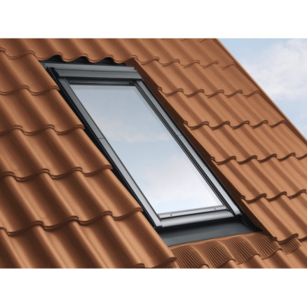 RACCORD VELUX EDW 0000 SK06 114X118CMPOUR TUILES - GRIS ANTHRACITE.POSE TRADITIONNELLE