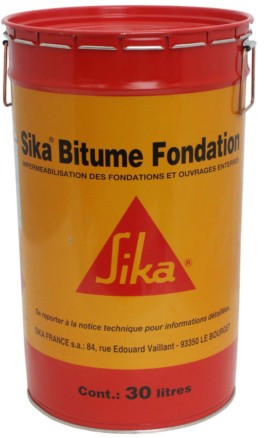 SOLUTION SIKA BITUME FONDATION 30L