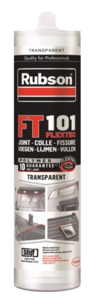 COLLE MASTIC RUBSON FT101 JOINT TRANSPAR280ML