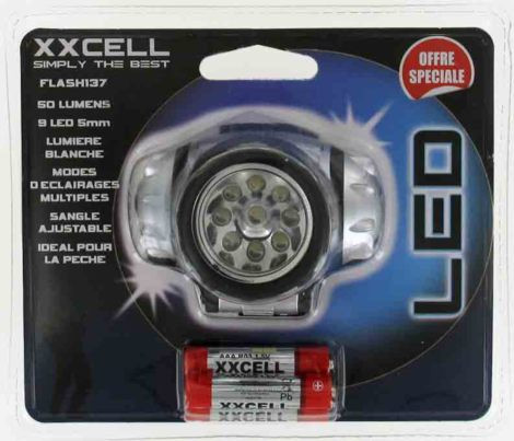 LAMPE FRONTALE 9 LEDS F437