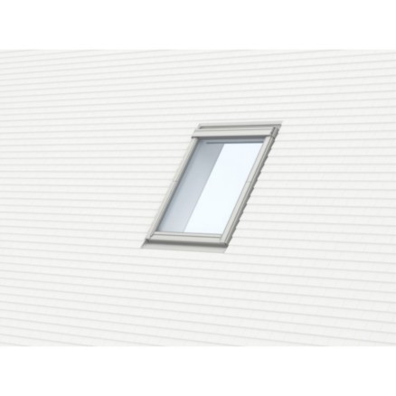 RACCORD VELUX EDP 0000 UK08 134X140CMPOUR TUILES PLATES - GRIS ANTHRACITE.POSE TRADITIONNELLE