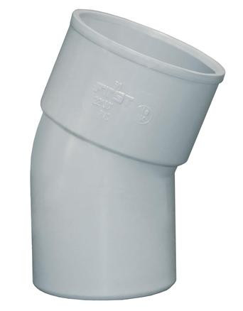 COUDE SIMPLE PVC GRIS 22°30 MF D. 40MMFP RÉF : CSG22040