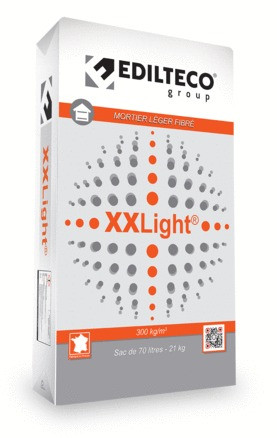 MORTIER LEGER FIBRÉ XXLIGHT 70L / 21KGTHERMO-ACOUSTIQUE (300 KG/M3)